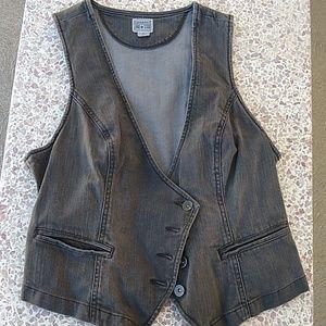 Converse Black Denim Jean Vest